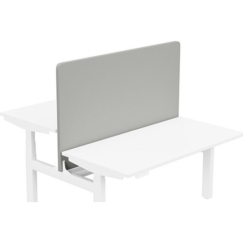 Acoustic Screen For Leap Height Adjustable Bench W1400xH850mm - Camira LUCIA Fabric - Colour Code: YB094-Slip