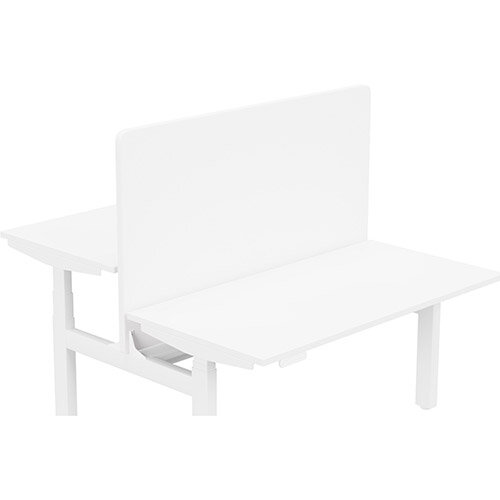 Acoustic Screen For Leap Height Adjustable Bench W1400xH850mm - Camira LUCIA Fabric - Colour Code: YB165-Adobo