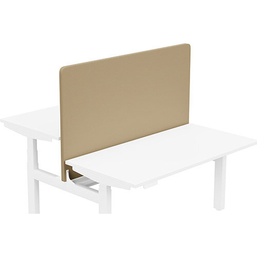 Acoustic Screen For Leap Height Adjustable Bench W1400xH850mm - Camira LUCIA Fabric - Colour Code: YB302-Sandstorm