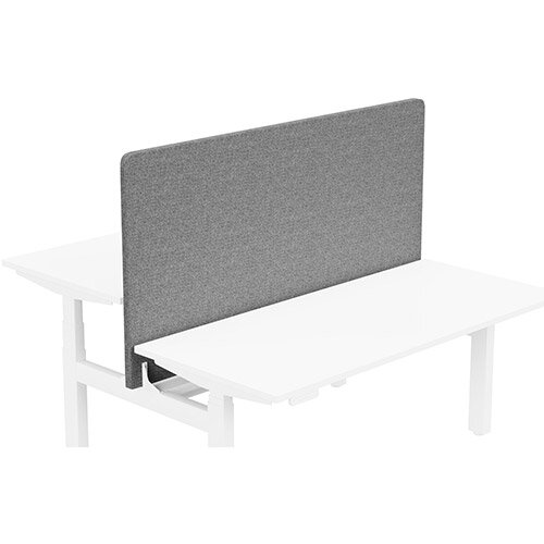 Acoustic Screen For Leap Height Adjustable Bench W1600xH850mm - Camira CARA Fabric - Colour Code: EJ104-Lead
