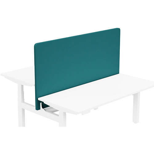 Acoustic Screen For Leap Height Adjustable Bench W1600xH850mm - Camira LUCIA Fabric - Colour Code: YB011-Montserrat