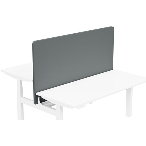 Acoustic Screen For Leap Height Adjustable Bench W1600xH850mm - Camira LUCIA Fabric - Colour Code: YB019-Paseo