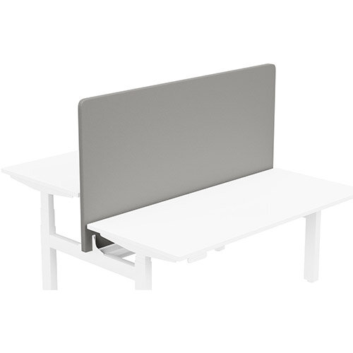 Acoustic Screen For Leap Height Adjustable Bench W1600xH850mm - Camira LUCIA Fabric - Colour Code: YB038-Tequila