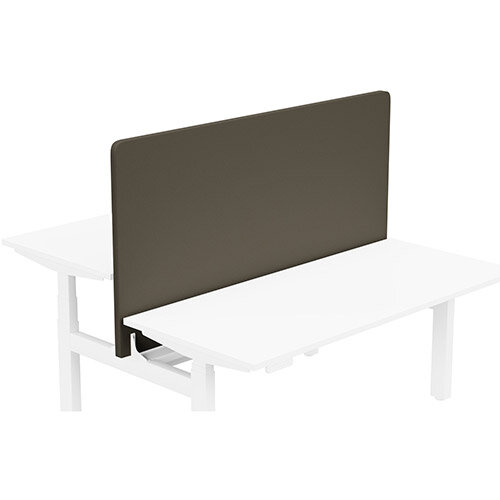 Acoustic Screen For Leap Height Adjustable Bench W1600xH850mm - Camira LUCIA Fabric - Colour Code: YB046-Sombrero