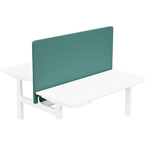 Acoustic Screen For Leap Height Adjustable Bench W1600xH850mm - Camira LUCIA Fabric - Colour Code: YB047-Windjammer