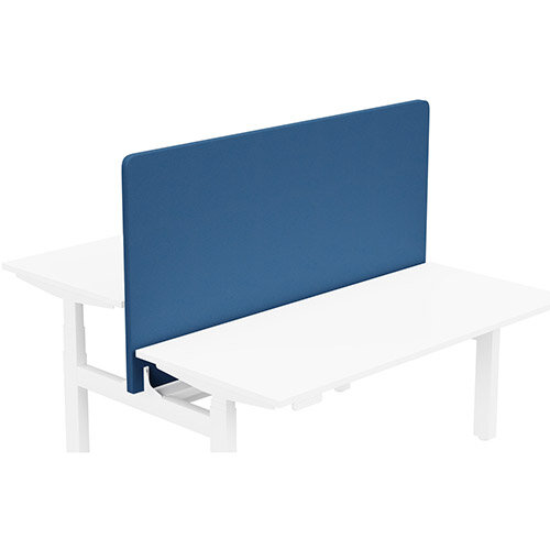 Acoustic Screen For Leap Height Adjustable Bench W1600xH850mm - Camira LUCIA Fabric - Colour Code: YB089-Scuba