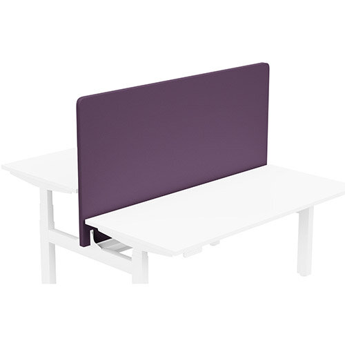 Acoustic Screen For Leap Height Adjustable Bench W1600xH850mm - Camira LUCIA Fabric - Colour Code: YB090-Tarot