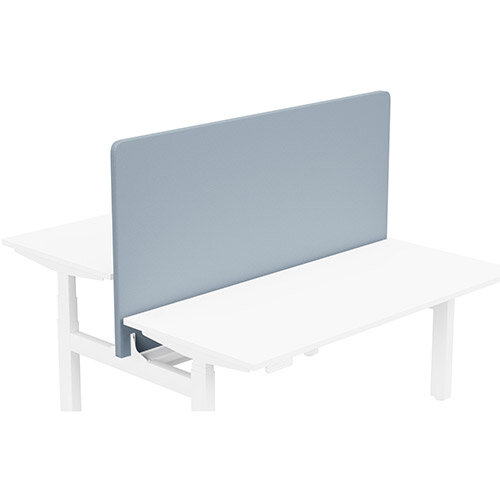 Acoustic Screen For Leap Height Adjustable Bench W1600xH850mm - Camira LUCIA Fabric - Colour Code: YB095-Steel