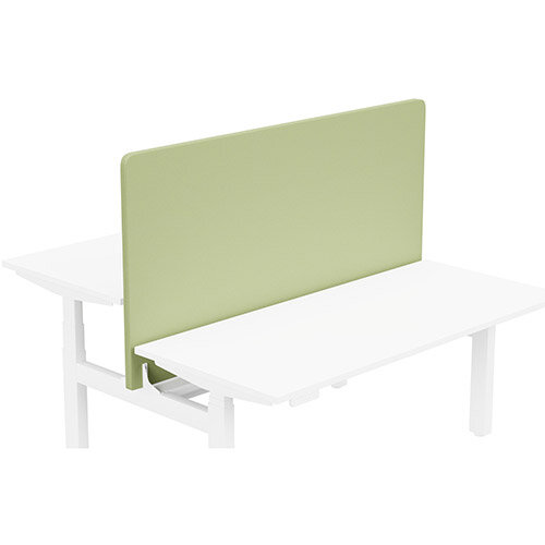 Acoustic Screen For Leap Height Adjustable Bench W1600xH850mm - Camira LUCIA Fabric - Colour Code: YB096-Apple