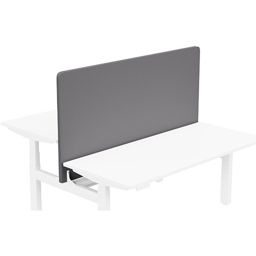 Acoustic Screen For Leap Height Adjustable Bench W1600xH850mm - Camira LUCIA Fabric - Colour Code: YB108-Blizzard