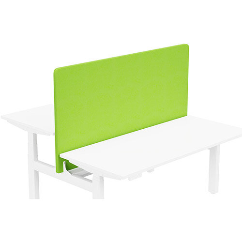 Acoustic Screen For Leap Height Adjustable Bench W1600xH850mm - Camira LUCIA Fabric - Colour Code: YB156-Madura