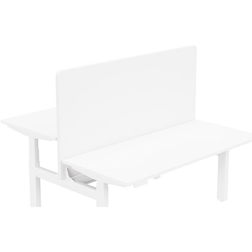 Acoustic Screen For Leap Height Adjustable Bench W1600xH850mm - Camira LUCIA Fabric - Colour Code: YB165-Adobo