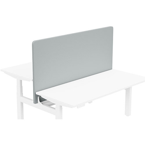 Acoustic Screen For Leap Height Adjustable Bench W1600xH850mm - Camira LUCIA Fabric - Colour Code: YB170-Buru