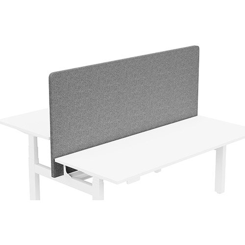 Acoustic Screen For Leap Height Adjustable Bench W1800xH850mm - Camira CARA Fabric - Colour Code: EJ104-Lead