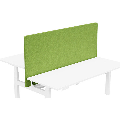 Acoustic Screen For Leap Height Adjustable Bench W1800xH850mm - Camira BLAZER LITE Fabric - Colour Code: LTH55-Happy
