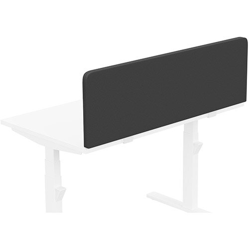 Acoustic Screen For Leap &Zoom Height Adjustable Desks W1200xH380mm - Camira LUCIA Fabric - Colour Code: YB009-Havana