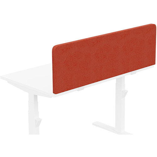 Acoustic Screen For Leap &Zoom Height Adjustable Desks W1200xH380mm - Camira LUCIA Fabric - Colour Code: YB087-Lobster