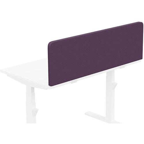 Acoustic Screen For Leap &Zoom Height Adjustable Desks W1200xH380mm - Camira LUCIA Fabric - Colour Code: YB090-Tarot