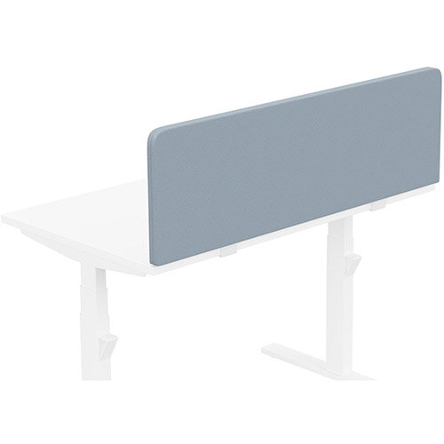 Acoustic Screen For Leap &Zoom Height Adjustable Desks W1200xH380mm - Camira LUCIA Fabric - Colour Code: YB095-Steel
