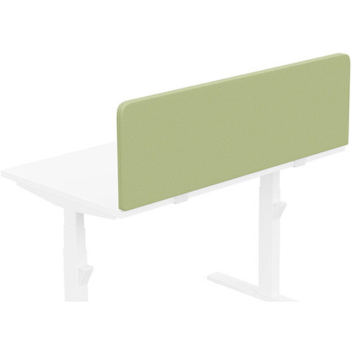 Acoustic Screen For Leap &Zoom Height Adjustable Desks W1200xH380mm - Camira LUCIA Fabric - Colour Code: YB096-Apple
