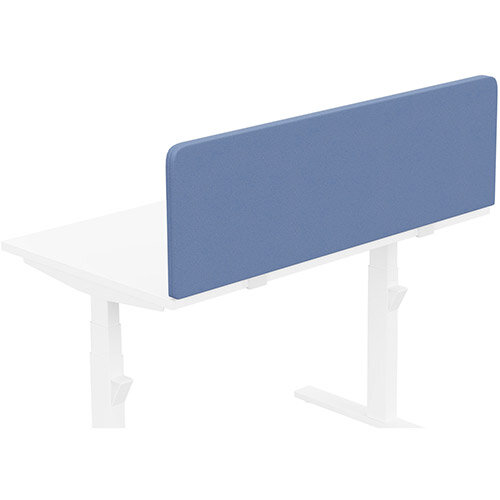 Acoustic Screen For Leap &Zoom Height Adjustable Desks W1200xH380mm - Camira LUCIA Fabric - Colour Code: YB097-Bluebell