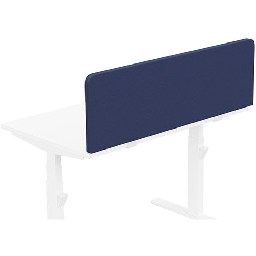 Acoustic Screen For Leap &Zoom Height Adjustable Desks W1200xH380mm - Camira LUCIA Fabric - Colour Code: YB100-Ocean