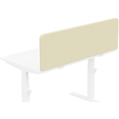 Acoustic Screen For Leap &Zoom Height Adjustable Desks W1200xH380mm - Camira LUCIA Fabric - Colour Code: YB107-Oyster