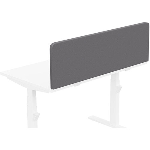 Acoustic Screen For Leap &Zoom Height Adjustable Desks W1200xH380mm - Camira LUCIA Fabric - Colour Code: YB108-Blizzard
