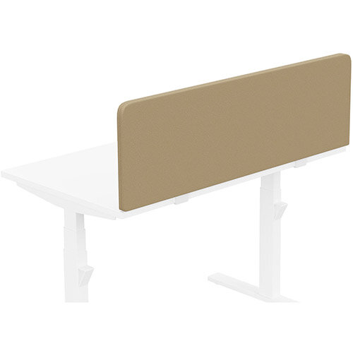Acoustic Screen For Leap &Zoom Height Adjustable Desks W1200xH380mm - Camira LUCIA Fabric - Colour Code: YB302-Sandstorm