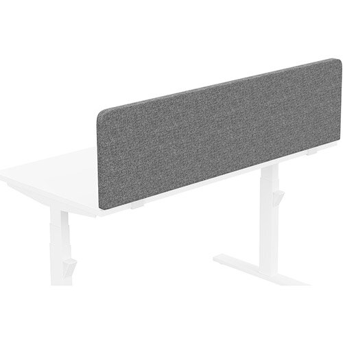 Acoustic Screen For Leap &Zoom Height Adjustable Desks W1400xH380mm - Camira CARA Fabric - Colour Code: EJ104-Lead