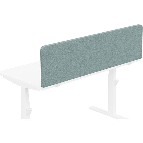 Acoustic Screen For Leap &Zoom Height Adjustable Desks W1400xH380mm - Camira BLAZER LITE Fabric - Colour Code: LTH63-Harmony