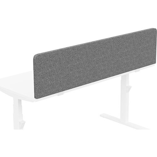 Acoustic Screen For Leap &Zoom Height Adjustable Desks W1600xH380mm - Camira CARA Fabric - Colour Code: EJ104-Lead