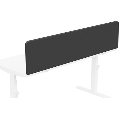 Acoustic Screen For Leap &Zoom Height Adjustable Desks W1600xH380mm - Camira LUCIA Fabric - Colour Code: YB009-Havana