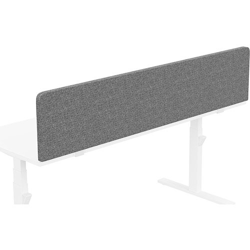 Acoustic Screen For Leap &Zoom Height Adjustable Desks W1800xH380mm - Camira CARA Fabric - Colour Code: EJ104-Lead