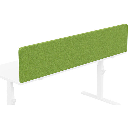 Acoustic Screen For Leap &Zoom Height Adjustable Desks W1800xH380mm - Camira BLAZER LITE Fabric - Colour Code: LTH55-Happy