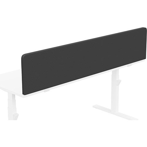 Acoustic Screen For Leap &Zoom Height Adjustable Desks W1800xH380mm - Camira LUCIA Fabric - Colour Code: YB009-Havana