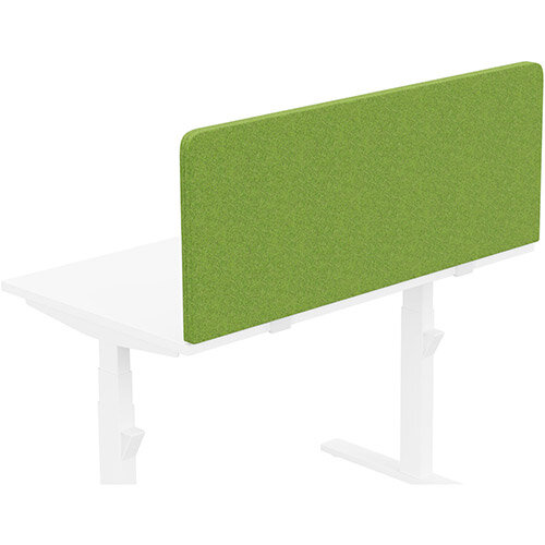 Acoustic Screen For Leap &Zoom Height Adjustable Desks W1200xH480mm - Camira BLAZER LITE Fabric - Colour Code: LTH55-Happy