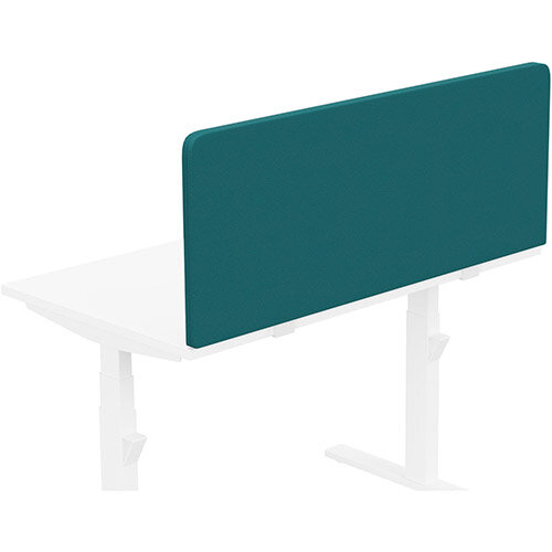 Acoustic Screen For Leap &Zoom Height Adjustable Desks W1200xH480mm - Camira LUCIA Fabric - Colour Code: YB011-Montserrat