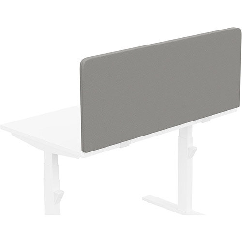 Acoustic Screen For Leap &Zoom Height Adjustable Desks W1200xH480mm - Camira LUCIA Fabric - Colour Code: YB038-Tequila