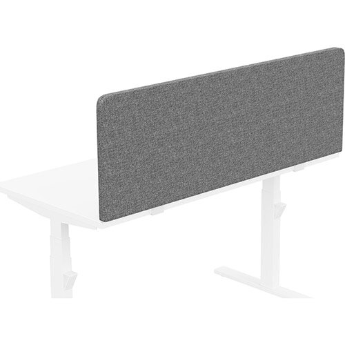 Acoustic Screen For Leap &Zoom Height Adjustable Desks W1400xH480mm - Camira CARA Fabric - Colour Code: EJ104-Lead