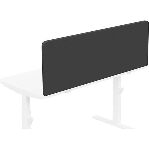 Acoustic Screen For Leap &Zoom Height Adjustable Desks W1400xH480mm - Camira LUCIA Fabric - Colour Code: YB009-Havana