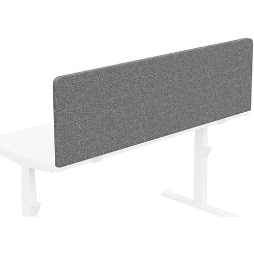 Acoustic Screen For Leap &Zoom Height Adjustable Desks W1600xH480mm - Camira CARA Fabric - Colour Code: EJ104-Lead