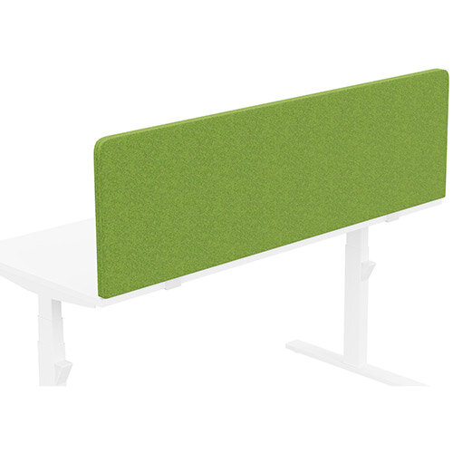 Acoustic Screen For Leap &Zoom Height Adjustable Desks W1600xH480mm - Camira BLAZER LITE Fabric - Colour Code: LTH55-Happy