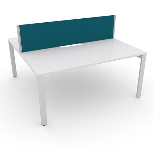 Switch 2 Person Bench Desk With Privacy Screen W 1600mm x D 2x800mm