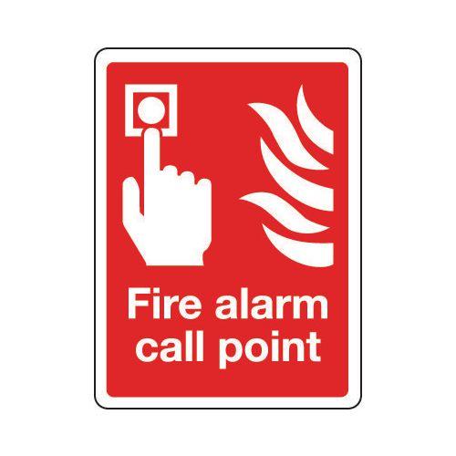 Sign Fire Alarm Call Point 150x200 Aluminium
