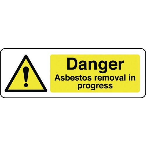 Sign Danger Asbestos Removal 300x100 Aluminium