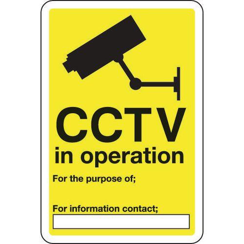 Sign Cctv In Operation 300x400 Aluminium