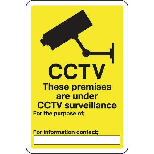 Sign Cctv These Premises Are 300x400 Aluminium