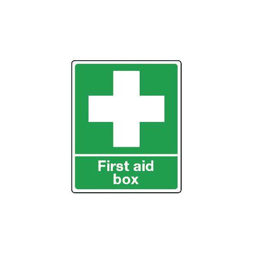 Sign First Aid Box Aluminium 250x300