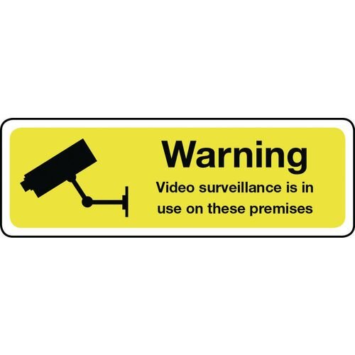 Warning Video Surveillance Aluminium 300x100